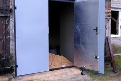Brama garażowa wzmocniona oraz ocieplona