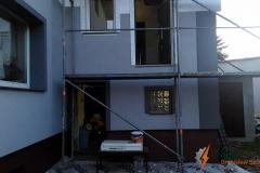 Konstrukcja schodów wraz z balustradą